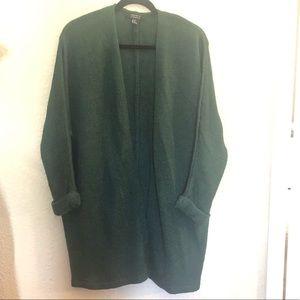 Women's Dark Emerald Green Oversized Cardigan S